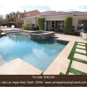 Lake Las Vegas Golf Course Home, Las Vegas Housing Experts, Michael Parks