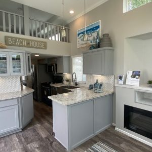 Double Lofted Park Model. Tiny Home Tours