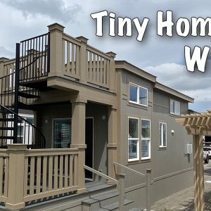 Solar Powered Tiny House Tour, Tony Home Perfect for Wino's. Park Model by Silvercrest.  tiny home