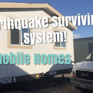 Mobile Homes Survive Earthquake. New Manufactured Home Foundation Systems. Mobile Home Set Up.