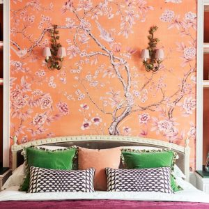 Hannah Cecil-Gurney of de Gournay shows us her bedroom office | My Workspace | House & Garden