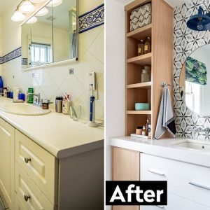 Home Depot Small Bathroom Makeover: This 90s Bathroom Gets Renovated!