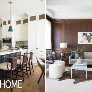 Home Tour: Paneling, Wallpaper, Bold Backsplash — This Showhouse Has It All!