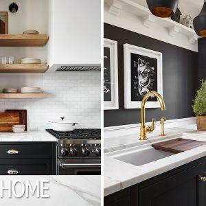 Kitchen Makeover: Black & Brass