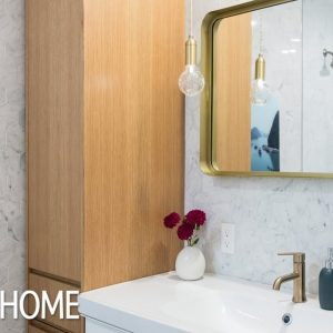Makeover: Small Modern Family Bathroom Reno