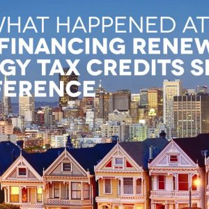 Opportunity Zones and the Renewable Energy Investment Tax Credit
