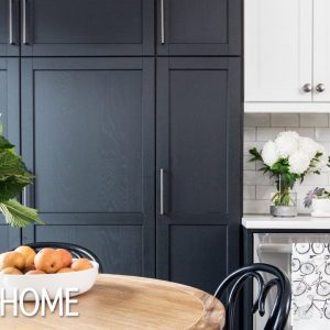 Small Kitchen Makeover: Black & White Two-Tone Cabinets