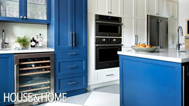 A Blue & White Kitchen Makeover With Great Storage Ideas